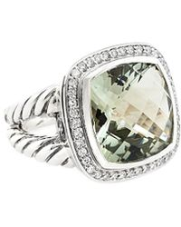 David Yurman - David Yurman Albion Silver 11.30 Ct. Tw. Diamond & Prasiolite Ring - Lyst