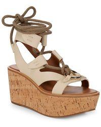 Frye - Dahlia Rope Leather Wedge Sandal - Lyst
