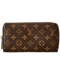 ece8486365bc Lyst - Louis Vuitton Black Zippy Wallet - Vintage in Black