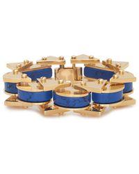 Lele Sadoughi - 14k Plated Howlite & Marble Bracelet - Lyst