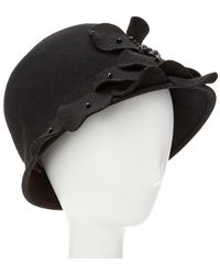 Giovannio - Couture Black Profile Wool Cloche - Lyst