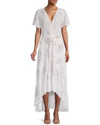 Young Fabulous & Broke - Costa Smocked Maxi Dress - Lyst
