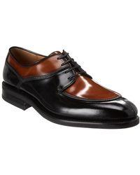 Ferragamo - Two Tone Derby Leather Oxford - Lyst