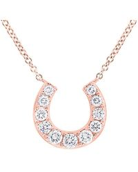 Diana M. Jewels - . Fine Jewelry 14k Rose Gold 0.36 Ct. Tw. Diamond Horseshoe Necklace - Lyst