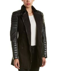 Walter Baker - Keanu Leather-trim Trench Coat - Lyst