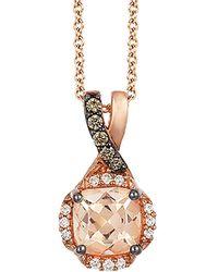 Le Vian - ? 14k Rose Gold 0.77 Ct. Tw. Diamond & Morganite Necklace - Lyst