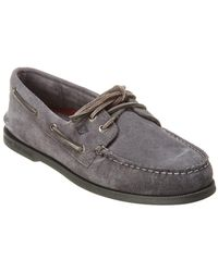 Sperry Top-Sider - A/o 2-eye Suede Boat Shoe - Lyst