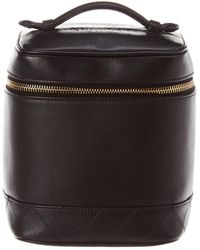 b1f763dd7c80 Chanel - Black Quilted Lambskin Leather Vertical Cosmetic Case - Lyst