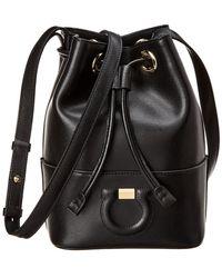 4712a8e96a97 Ferragamo - Gancini City Leather Bucket Bag - Lyst