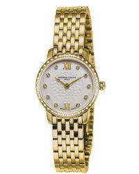 Frederique Constant - Slimline Mini Diamond Watch - Lyst
