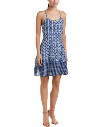 19 Cooper - Printed A-line Dress - Lyst