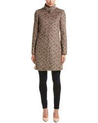Cinzia Rocca - Novelty Printed Alpaca & Wool-blend Coat - Lyst