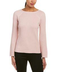 Lafayette 148 New York - Ribbed Silk-blend Crew Sweater - Lyst