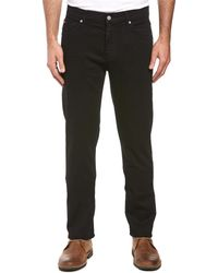 7 For All Mankind - 7 For All Mankind Standard True Black Straight Leg - Lyst