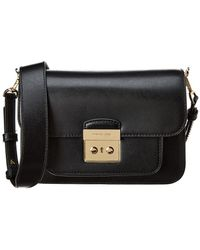 f21250005 Michael Kors Sloan Small Leather Crossbody Bag in Black - Lyst