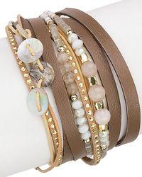 Saachi - Disco Leather Wrap Bracelet - Lyst