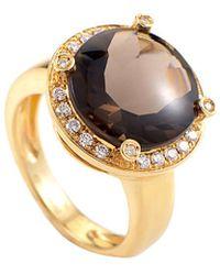 Poiray - 18k 5.75 Ct. Tw. Diamond & Quartz Ring - Lyst