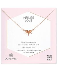Dogeared - Infinite Love 14k Rose Gold Plated Necklace - Lyst