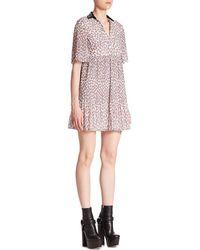 Giamba - Collared Mini Dress - Lyst