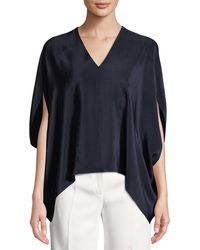 1f862a14bd371 Lyst - See By Chloé Gathered Long-sleeve High-neck Peasant Blouse in ...