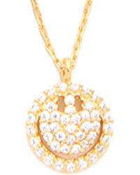 Tai Jewellery Cz Smiley Face Necklace