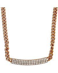 Swarovski - Crystal Vio Plated Necklace - Lyst