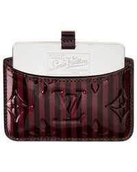 Louis Vuitton - Limited Edition Purple Rayures Monogram Vernis Card Case With Mirror - Lyst