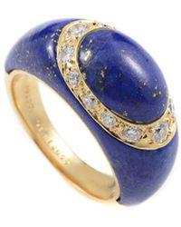 Heritage Van Cleef & Arpels - Van Cleef & Arpels 18k 0.44 Ct. Tw. Diamond & Lapis Lazuli Ring - Lyst