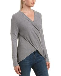Three Dots - Brushed Crossover Sweater - Lyst