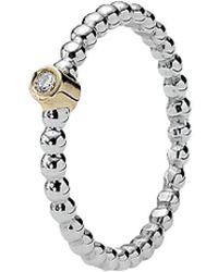 PANDORA - Silver And 14k Diamond Evening Star Ring - Lyst