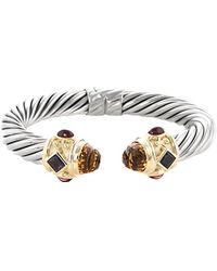 David Yurman   David Yurman Renaissance 14k & Silver 13.00 Ct. Tw. Gemstone Cuff Bracelet   Lyst