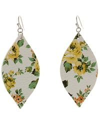 Sparkling Sage - Silver Plated Faux Leather Earrings - Lyst