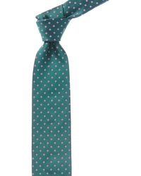 Canali - Green Abstract Silk Tie - Lyst