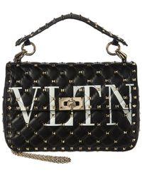 Valentino - Vltn Spike It Quilted Medium Leather Shoulder Bag - Lyst