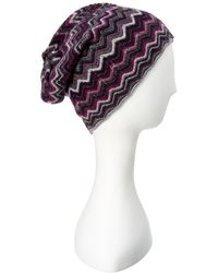 Forte - Forte Zig Zag Cashmere Hat - Lyst