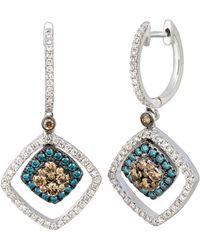 Le Vian - ® 14k White Gold 0.89 Ct. Tw. Diamond Earrings - Lyst