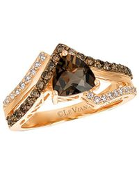 Le Vian - ? 14k Rose Gold 1.46 Ct. Tw. Diamond & Smoky Quartz Ring - Lyst