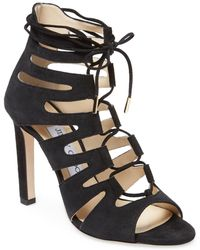 Jimmy Choo - Hitch 100 Suede Sandal - Lyst