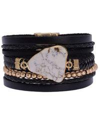 Saachi - Marble Braid Leather Bracelet - Lyst