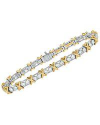 Heritage Tiffany & Co. Tiffany & Co. 18k & Platinum 2.95 Ct. Tw. Diamond Bracelet - Metallic
