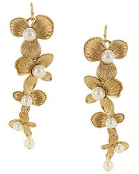 Sparkling Sage - 14k Plated Resin Floral Drop Earrings - Lyst