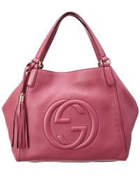 Gucci - Purple Leather Soho Shoulder Bag - Lyst 5be36d335407b