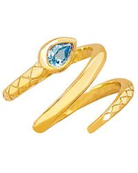 Johnny Was - Logan Hollowell 18k Over Silver Blue Topaz Ring - Lyst