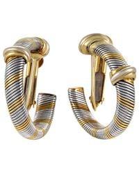 Cartier - Cartier 18k & Stainless Steel Drop Earrings - Lyst