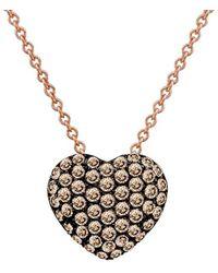 Le Vian - ? 14k Rose Gold .48 Ct. Tw. Diamond Heart Necklace - Lyst