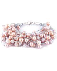 Splendid - Plated 6-7mm Freshwater Pearl Bracelet - Lyst