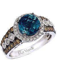 Le Vian - ® Chocolatier® 14k 2.67 Ct. Tw. Diamond & London Blue Topaz Ring - Lyst