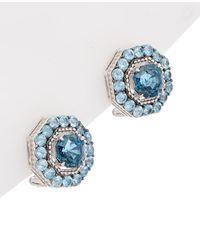 Judith Ripka - Casablanca Silver Button Studs - Lyst