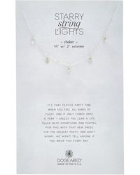Dogeared - Sparkle Collection Silver Crystal Choker - Lyst