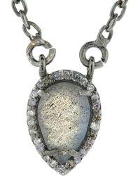 Adornia - Fine Jewellery Silver 1.20 Ct. Tw. Diamond Labradorite Necklace - Lyst